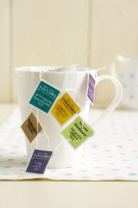 tea selection included in the afternoon tea party box