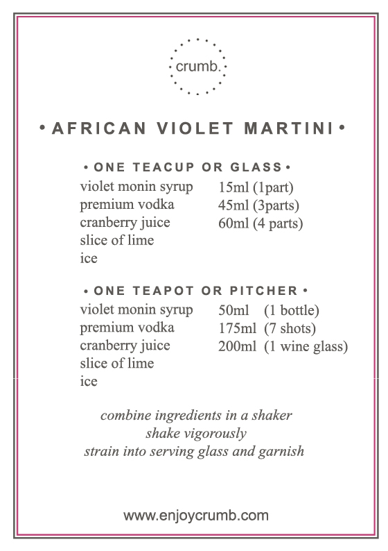 free downloadable printable cocktail recipe